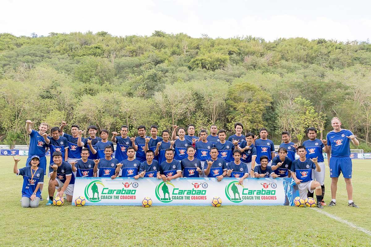 คาราบาว ผนึกพันธมิตร เชลซี เป็นปลื้มประสบความสำเร็จ โครงการ Carabao-Chelsea Coach the Coaches โค้ชเยาวชนไทยตอบรับตบเท้าสมัครเข้าอบรมหลักสูตรฝึกสอน